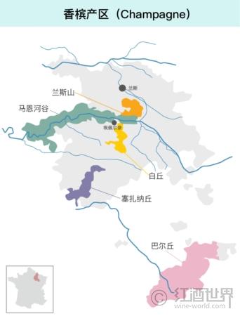 法国葡萄酒地图