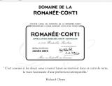 2012年份罗曼尼·康帝酒庄(罗曼尼·康帝特级园)红葡萄酒