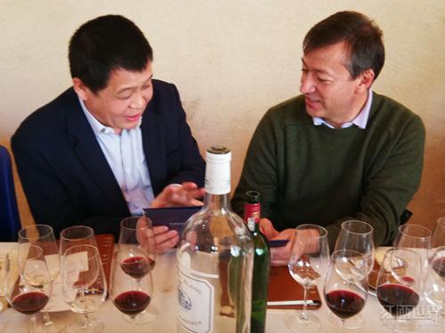 红酒世界苗健董事长应邀访问波尔多名庄玛歌酒庄