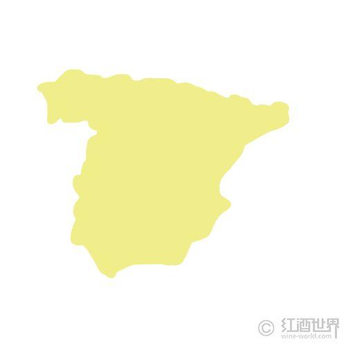 西班牙葡萄酒地图