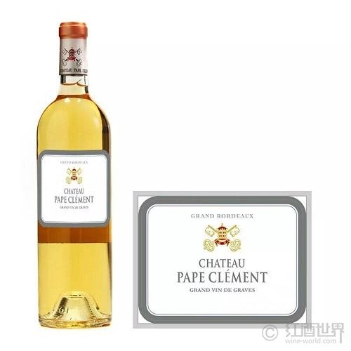 2018克莱蒙教皇堡白,JS98-99分,波尔多最佳白葡萄酒之一