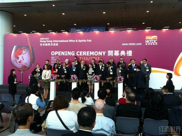 第6届香港国际美酒展昨日开幕,财政司司长出席剪彩