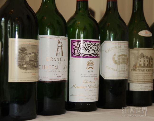2012波尔多期酒评分(一级庄)