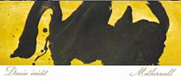 1974年份木桐酒标 反复纠缠的浓黑色块