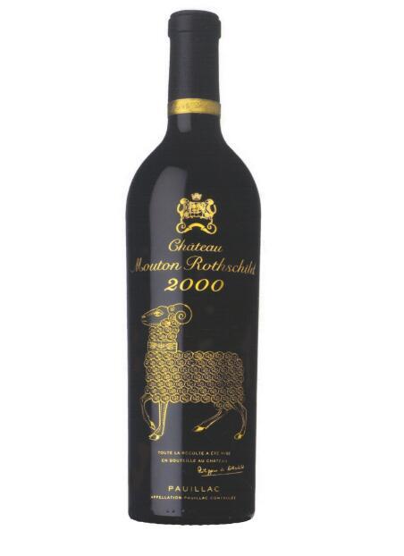2000年份木桐酒标 千禧之年的艺术珍品