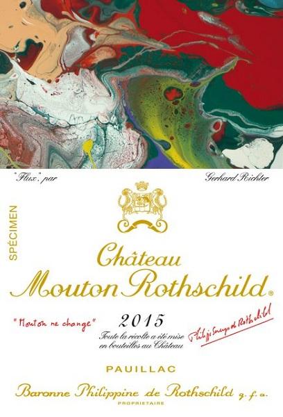 格哈德·里希特为木桐酒庄设计2015年份酒标
