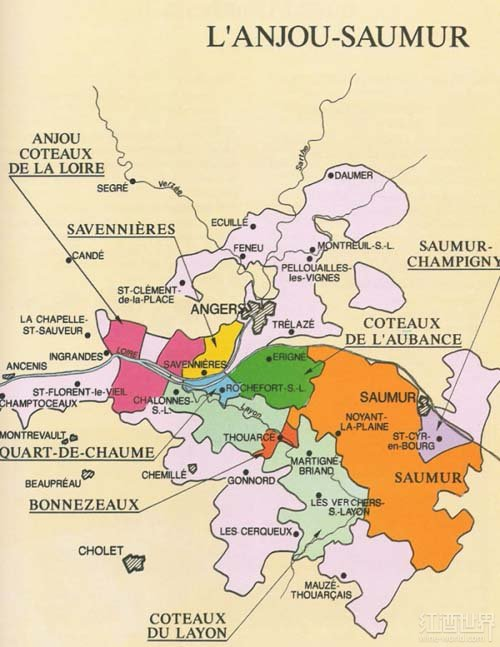 奥本斯山坡(Coteaux de l'Aubance )
