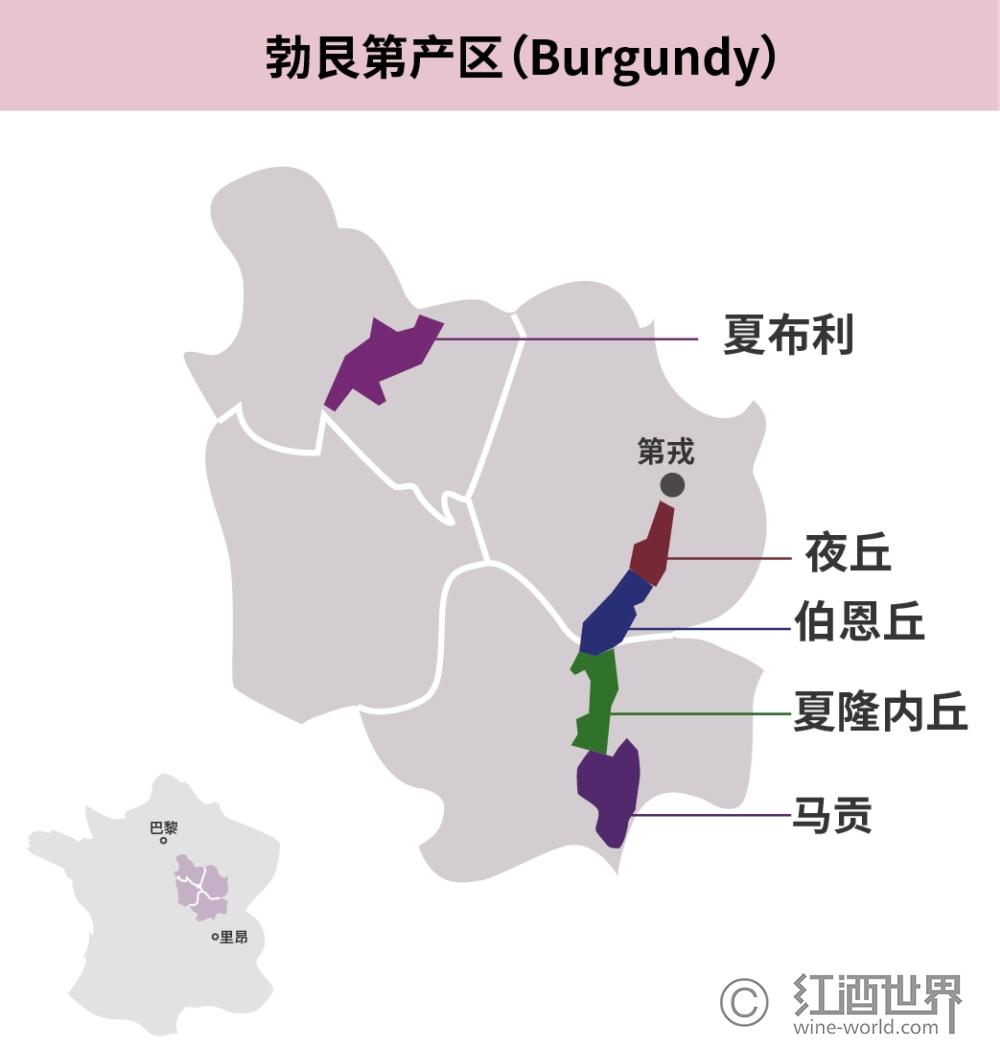 勃艮第葡萄品种的主流与非主流