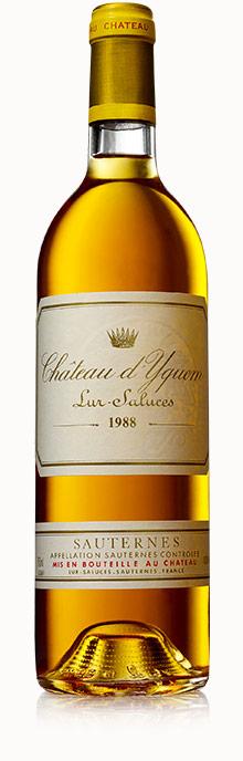 1988年份滴金酒庄贵腐甜白葡萄酒